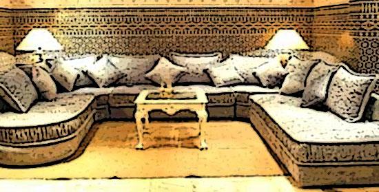 canape d'angle marocain