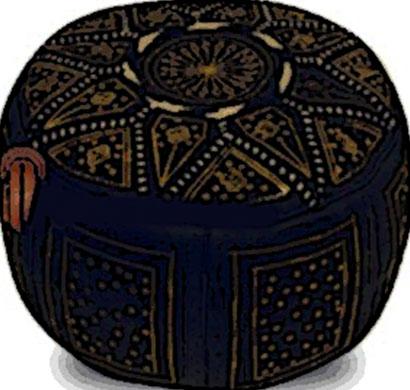 pouf oriental cuir