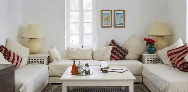 Salon marocain blanc: vente salon oriental blanc et noir 2016 pas cher