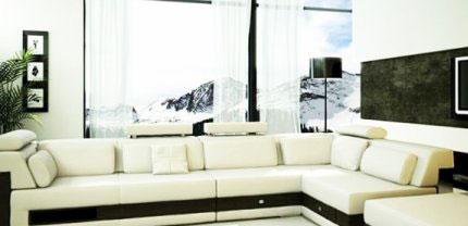 salon marocain moderne blanc