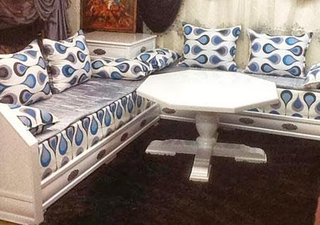 Salon marocain moderne: achat salon oriental contemporain gris pas cher