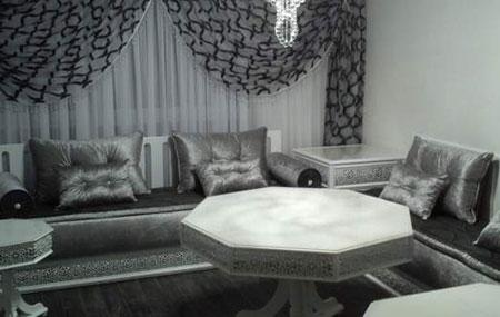 Salon marocain design: acheter salon oriental beige & tendance pas cher