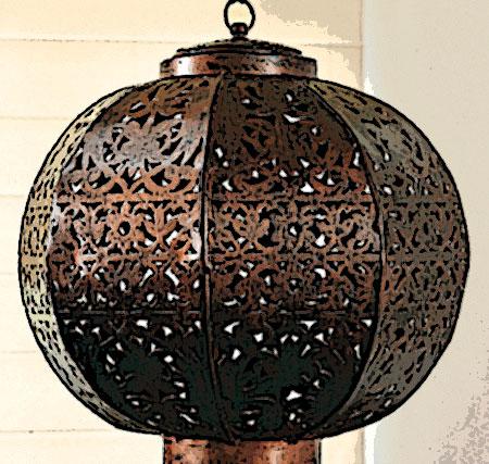 suspension orientale cuivre