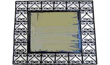 miroir marocain fer forgé