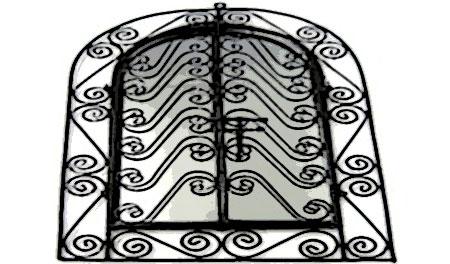 miroir oriental acier