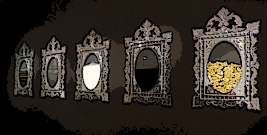 Miroir oriental argent achat miroir marocain en argent for On traverse un miroir