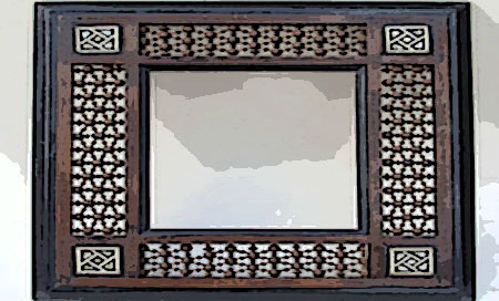 Miroir oriental bois c ble lectrique cuisini re for Miroirs muraux conforama