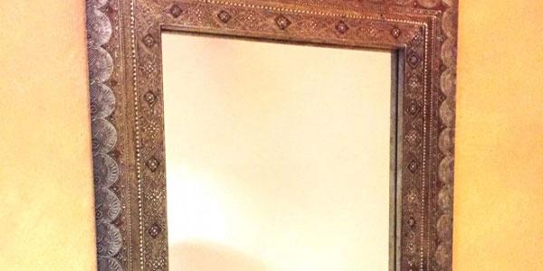 Miroir oriental en bois achat miroir marocain en bois pas for Miroir orientable