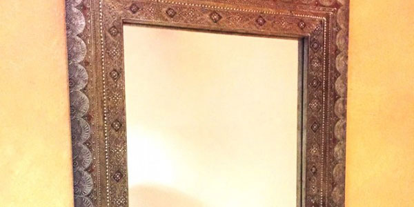 miroir oriental bois