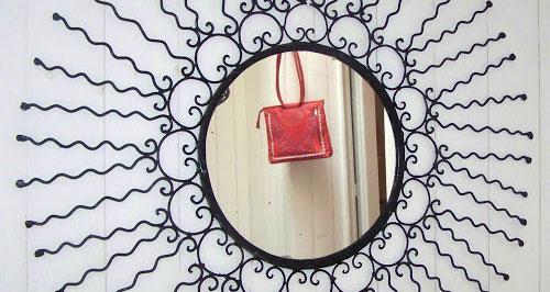 miroir oriental fer forgé pas cher