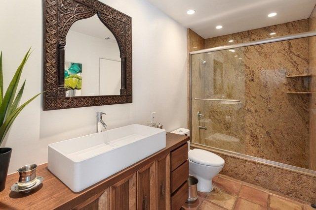 Miroir oriental fer forg vente miroir marocain acier - Modele de salle de bain marocaine ...