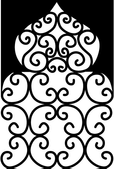 stickers porte marocaine vitrail