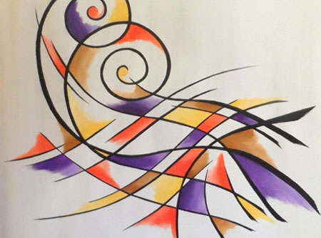 tableau peinture arabesque