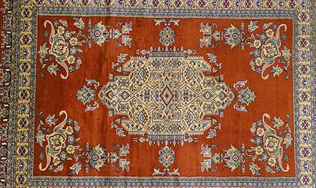 tapis pakistanais laine et soie